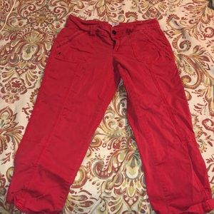 Maurice's red capris